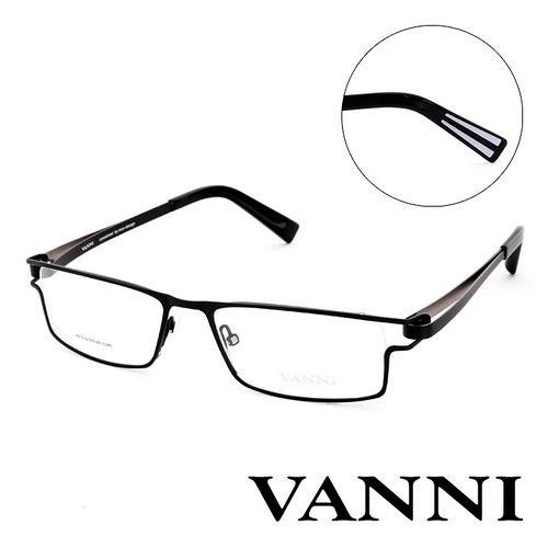 Vanni  輕巧 平光眼鏡^(黑^) V8306C151