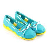 【Pretty】繽紛雙色簍空防水潮流雨鞋/沙灘鞋/膠鞋-淺藍色