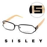 Sisley 法國 希思黎 時尚復古百搭造型平光眼鏡(奶茶) SY02902