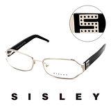 Sisley 法國 希思黎 時尚復古百搭造型平光眼鏡(黑) SY02901