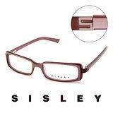 Sisley 法國 希思黎 低調時尚造型平光眼鏡(藕) SY02102