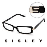 Sisley 法國 希思黎 時尚基本款造型平光眼鏡(黑) SY02101