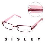 ssSisley 法國 希思黎 時尚霧面鏡架造型平光眼鏡(粉紫) SY00403ss