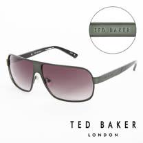 TED BAKER 倫敦 個性軍綠質感造型太陽眼鏡(墨綠) TB1241522