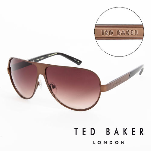 TED BAKER 倫敦 復古 太陽眼鏡^(咖啡^) TB1240186