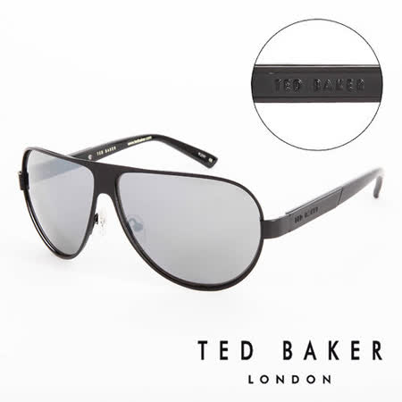 TED BAKER 倫敦 復古質感造型太陽眼鏡(黑) TB1240001