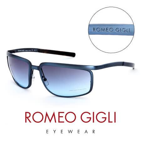 Romeo Gigli 義大利 復古質感造型太陽眼鏡(藍)  RG506S02