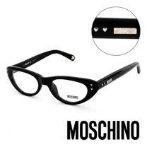 MOSCHINO 義大利設計經典造型平光眼鏡(黑) MO02301