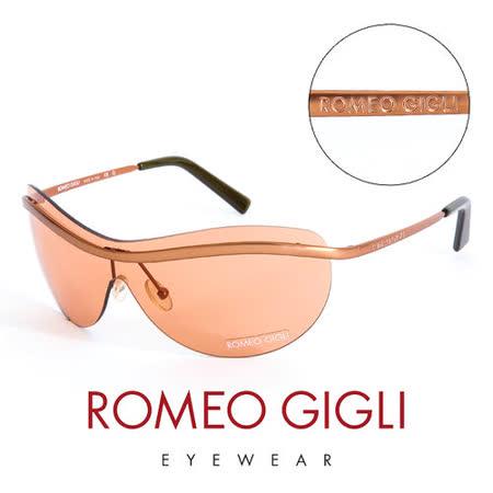 Romeo Gigli 義大利 頂級霧面無框造型太陽眼鏡(橘) RG227S5M1