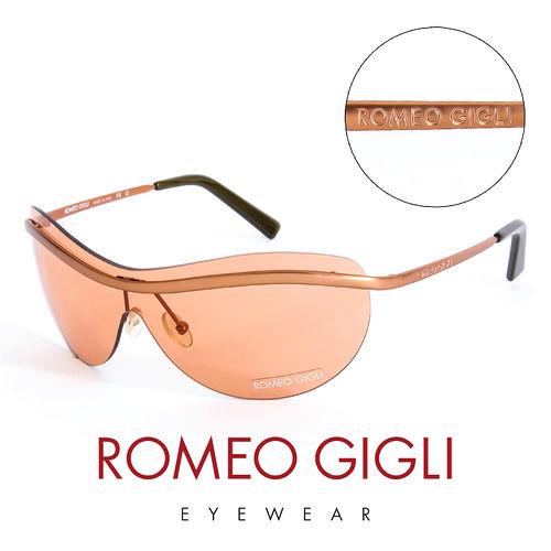 Romeo Gigli 義大利 霧面無框 太陽眼鏡^(橘^) RG227S5M1
