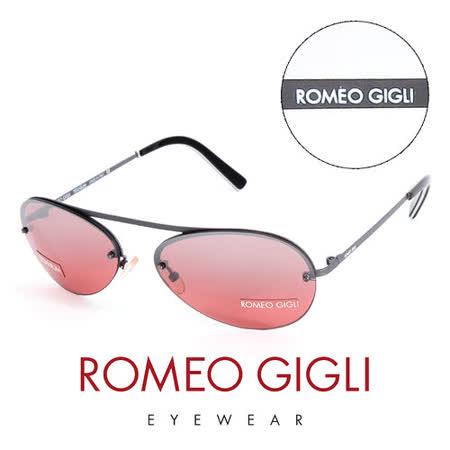 Romeo Gigli 義大利 復古質感半框造型太陽眼鏡(紅)  RG208S2X2