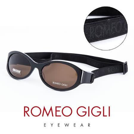 Romeo Gigli 義大利 經典鬆緊帶造型太陽眼鏡(黑) RG187S007