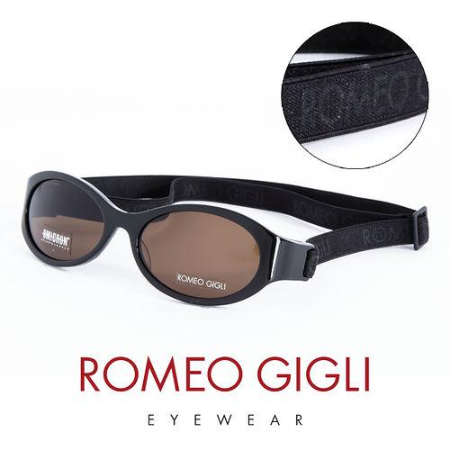 Romeo Gigli 義大利 鬆緊帶 太陽眼鏡^(黑^) RG187S007