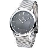 cK 經典系列米蘭紳士腕錶-鐵灰 K3M21124