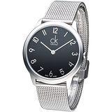 cK 優美風米蘭大表徑男錶-黑K3M51151