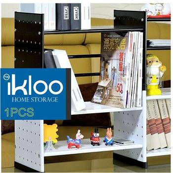 N 整理收納 IKLOO 貴族風組合式書架(黑)OA125 - 一入裝-9682