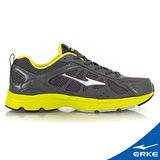 【ERKE爾克】男性運動常規慢跑鞋-青銅灰/果綠(歐碼:39-44)