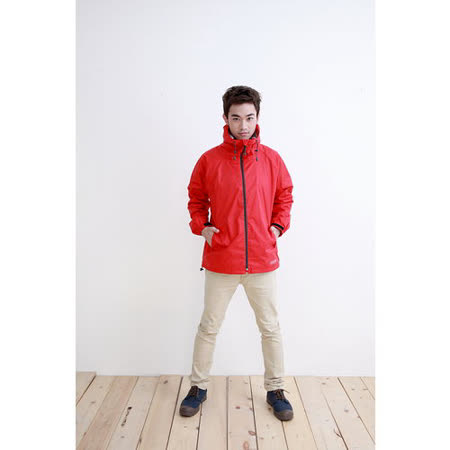 OutPerform-日系刷毛雨衣單衣夾克-風動紅