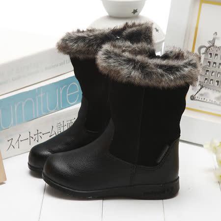 【童鞋城堡】Pediped好萊塢明星最愛品味經典黑雪靴子{美國品牌}RS713