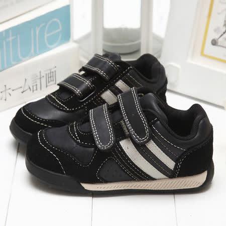 【童鞋城堡】Pediped限量酷勁黑品味運動休閒鞋{美國品牌}RS1906