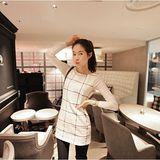 Kate❤Classic 韓國氣質方格兩件式洋裝(內搭上衣+方格背心裙)(DS00053)