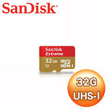 SanDisk Extreme 32GB MicroSDHC 80MB/s 記憶卡