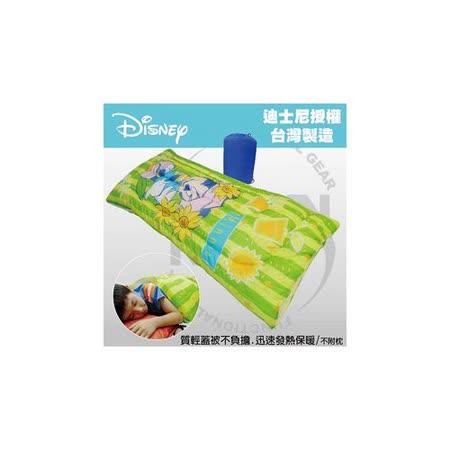 【VOSUN】全開式MINNIE保暖兒童睡袋(附背袋)_青草綠FB-056
