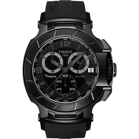 TISSOT T-RACE 急速傳奇計時運動錶-黑 T0484173705700