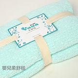 YODA 嬰兒輕柔柔舒毯(大)-粉綠色
