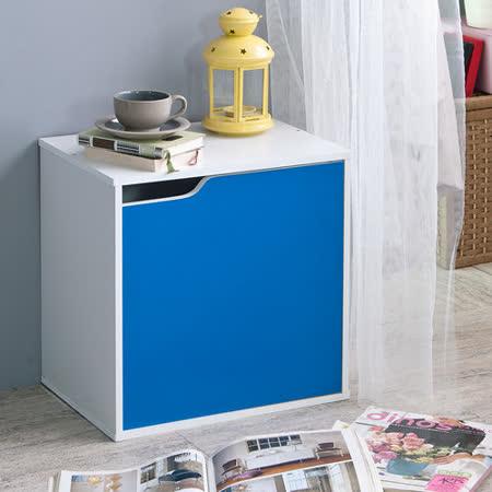 粉彩多色單格單門組合收納櫃(五色可選)