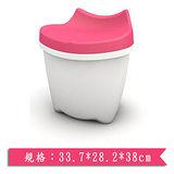 樹德SHUTER 朵貓貓置物椅CB-16L-粉紅(33.7*28.2*38cm)