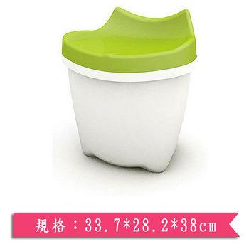樹德SHUTER 朵貓貓置物椅CB-16L-粉綠(33.7*28.2*38cm)