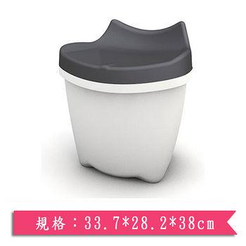 樹德SHUTER 朵貓貓置物椅CB-16L-黑灰(33.7*28.2*38cm)