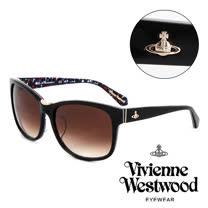 Vivienne Westwood 英國薇薇安魏斯伍德英倫龐克太陽眼鏡(黑) VW78701