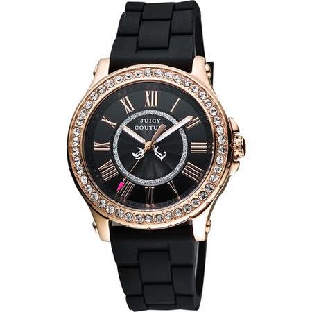 Juicy Couture 魅力四射晶鑽腕錶-黑 J1901055