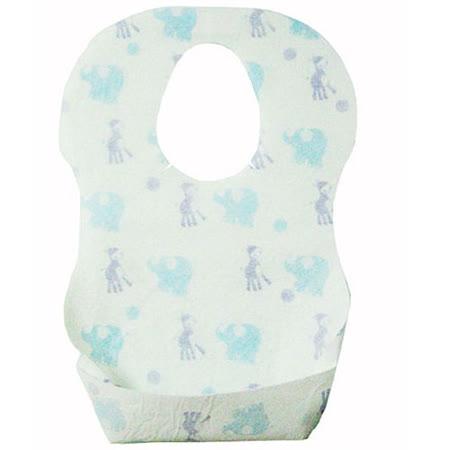 【PS Mall】寶貝塗鴉嬰兒圍兜圍巾兜 一次性嬰兒圍兜 拋棄式口水巾_2個 (B042)