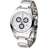 cK 經典時尚系3眼計時腕錶K0K28120