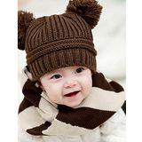 【PS Mall】韓版男女嬰兒童寶寶 雙球球毛線帽 (B076)