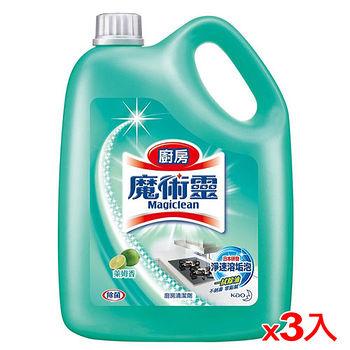 魔術靈廚房清潔劑量販瓶裝-萊姆香3800ml*3   入(箱)