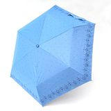 【TV雨傘王】手開傘系_星空蕾絲鋼筆傘(水藍色)