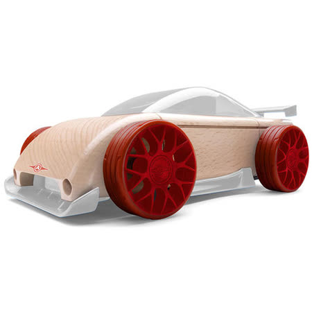 【AUTOMOBLOX 】德國原木變形車Mini C9R