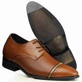 GOG高哥隱形增高鞋精品系列61303精品二節頭擦色增高7.0cm(2013-11)