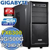 技嘉760平台【裝甲機師】AMD FX六核 R7 24OC-2G DDR3獨顯 500GB燒錄電腦