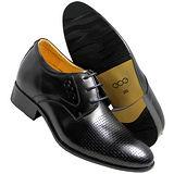 GOG高哥隱形增高鞋精品系列T611612格紋壓花增高6.5cm(2013-11)