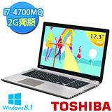 TOSHIBA P70-A 17.3吋 i7-4700MQ  GT745M 4G獨顯 獨顯智慧筆電(鈦銀)【贈滑鼠+鍵盤膜+清潔組+3轉2插頭】