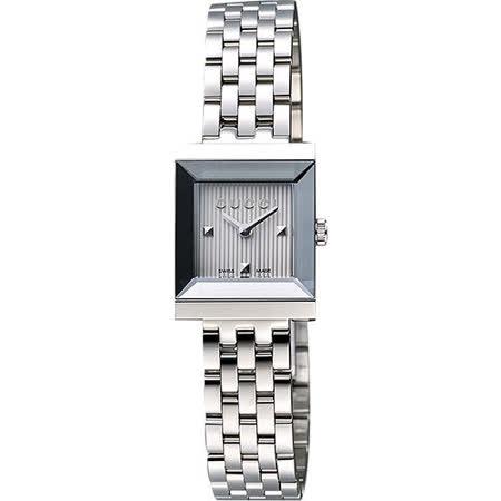 【私心大推】gohappy快樂購物網GUCCI G-Frame 系列小錶徑女仕腕錶-銀 YA128402效果廣三 百貨