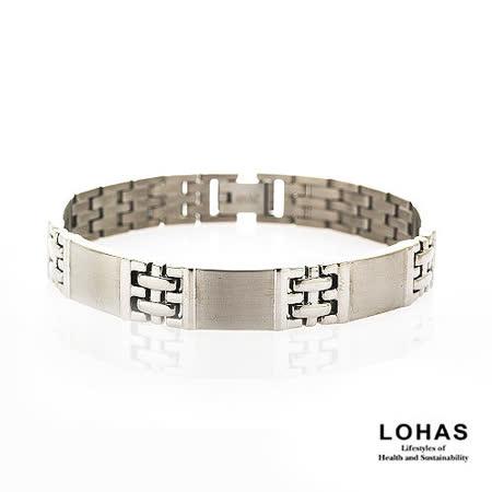【LOHAS-日本鍺鈦】廣島之戀5顆錐形金屬鍺男款手鍊
