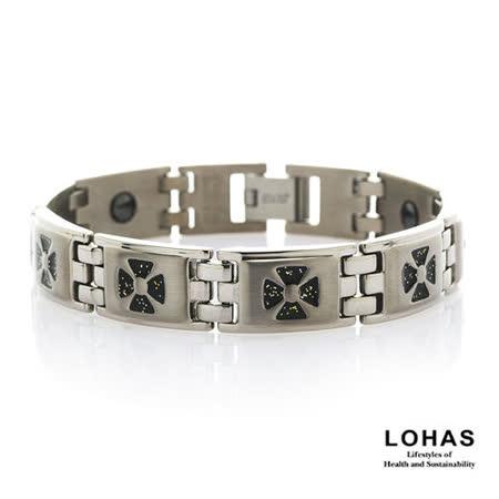 【LOHAS-日本鍺鈦】黑武士5顆錐形金屬鍺手鍊