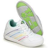 GOG高哥隱形增高鞋女鞋系列M260彩條女款板鞋增高6.5cm(2013-11)