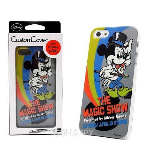 日本進口Disney iPhone 5S【米奇魔術秀】硬式手機背蓋
